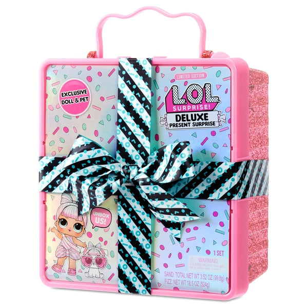L.O.L. Surprise Deluxe Present Surprise Limited Edition Miss Partay Doll and Pet Pink - Leeval Shop Direct