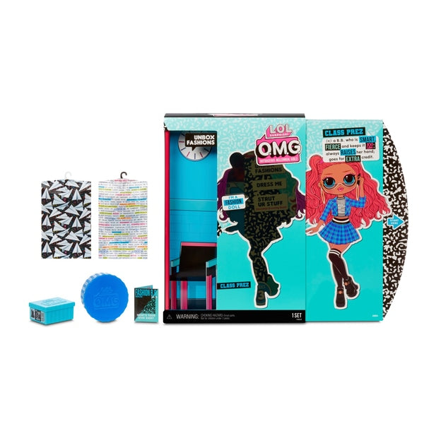 L.O.L. Surprise! O.M.G. Class Prez Fashion Doll with 20 Surprises - Leeval Shop Direct