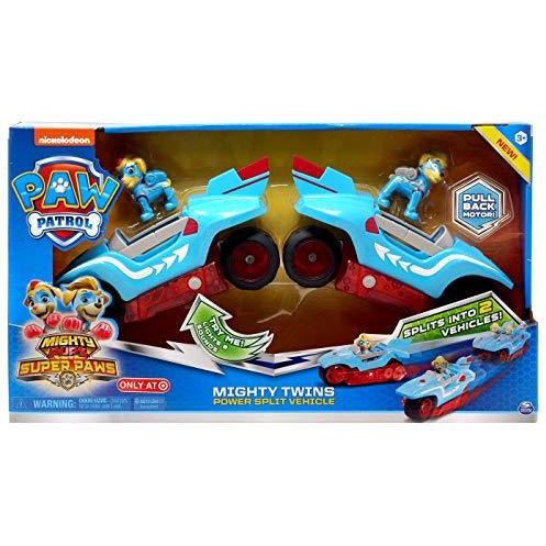 Paw Patrol Mighty Pups Super Paws Mighty Twins Power Split Vehicle - Leeval Shop Direct