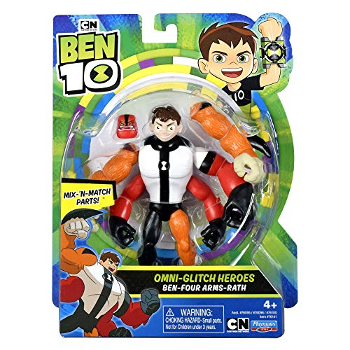 Ben 10 Omni-Glitch Heroes Four Arms-Rath Action Figure - Leeval Shop Direct