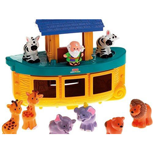 Fisher-Price World of Little People Touch & Feel Noah's Ark - Leeval Shop Direct