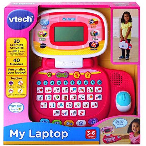 VTech Pre-School My Laptop - Pink - Leeval Shop Direct