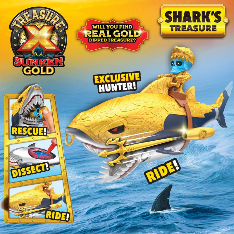 Treasure X Sunken Gold Sharks Treasure - Leeval Shop Direct