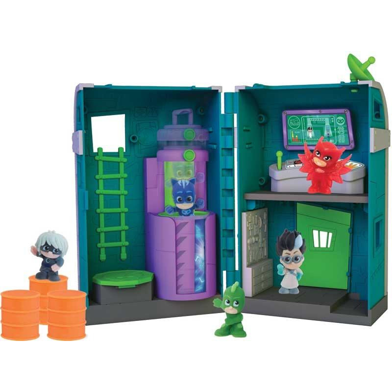 PJ MASKS NIGHTTIME MICROS ROMEOS LAIR PLAYSET - Leeval Shop Direct