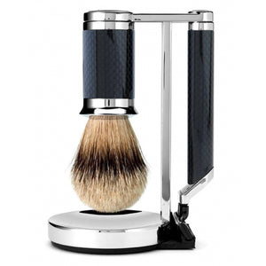 Luxury Carbon Fiber Shave Set, Razor
