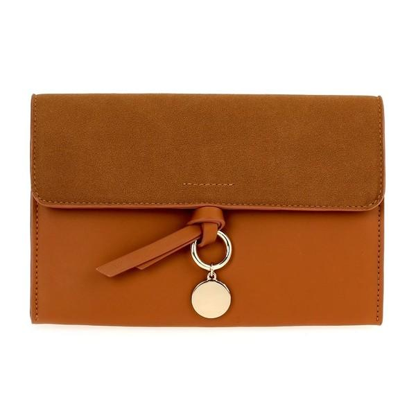 Bag Layd Cognac Clutch Bag