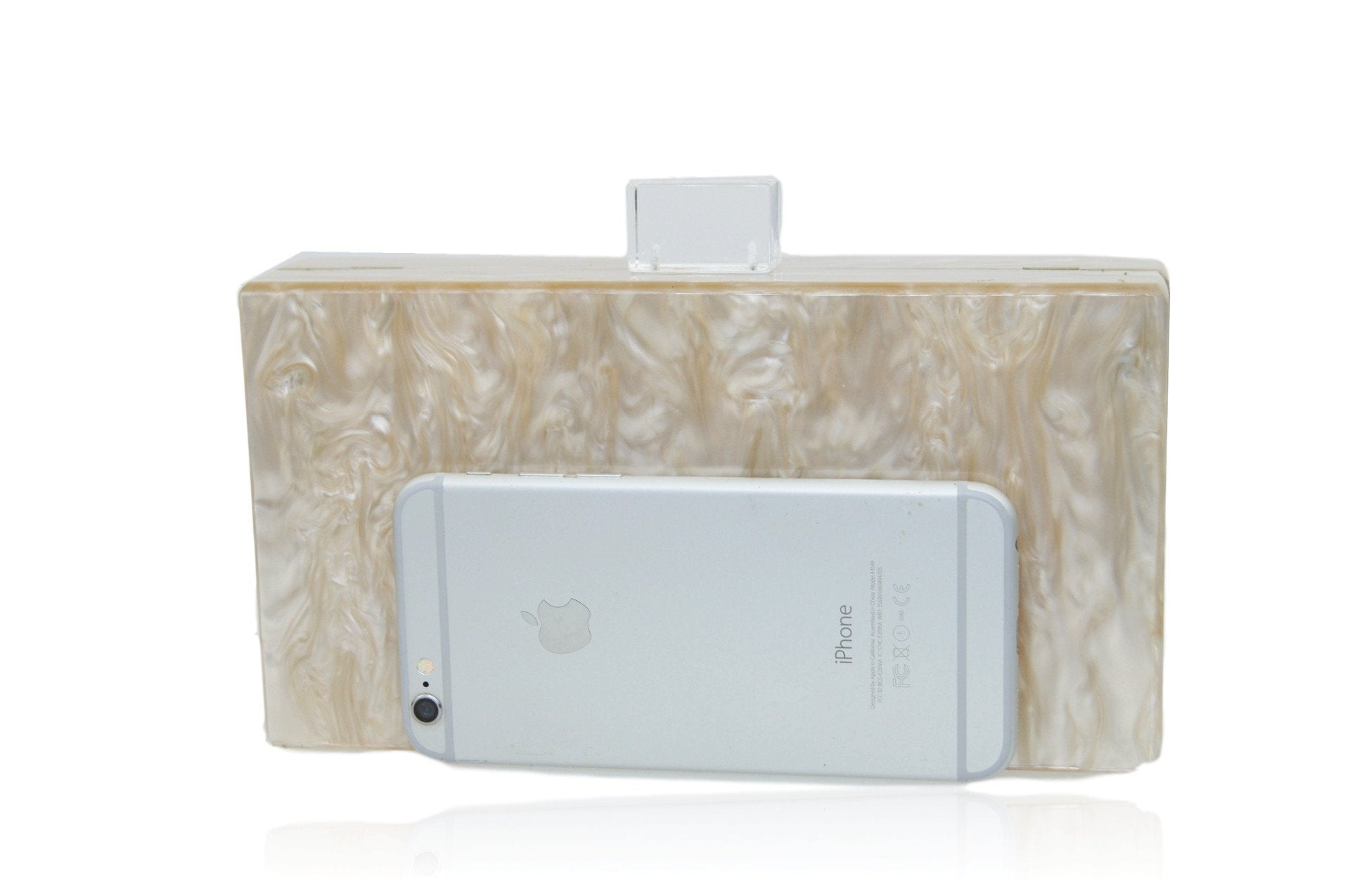 MilanBlocks Champagne Mother of Pearl Clutch Bag