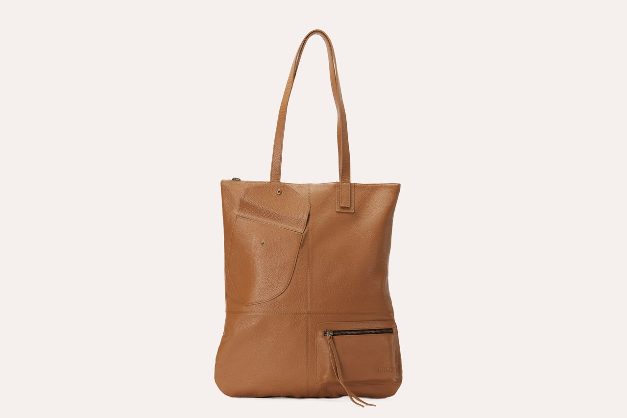 Fold n Hold Leather Tote