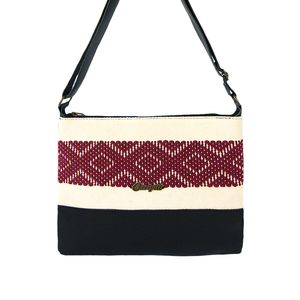 Mesoamerican Shoulder Bag in Black Leather