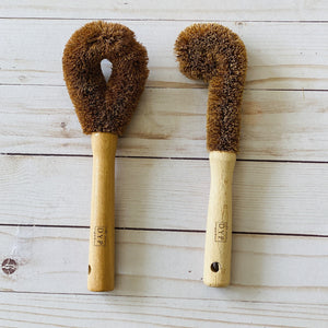 Beechwood Bottle & Pan Brushes