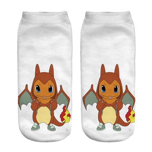 Pikachu & Friends Low-cut Ankle Socks