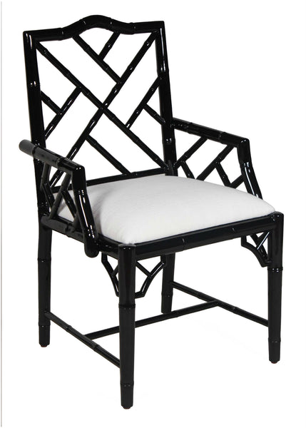 Britton Arm Chair - Black Laquer