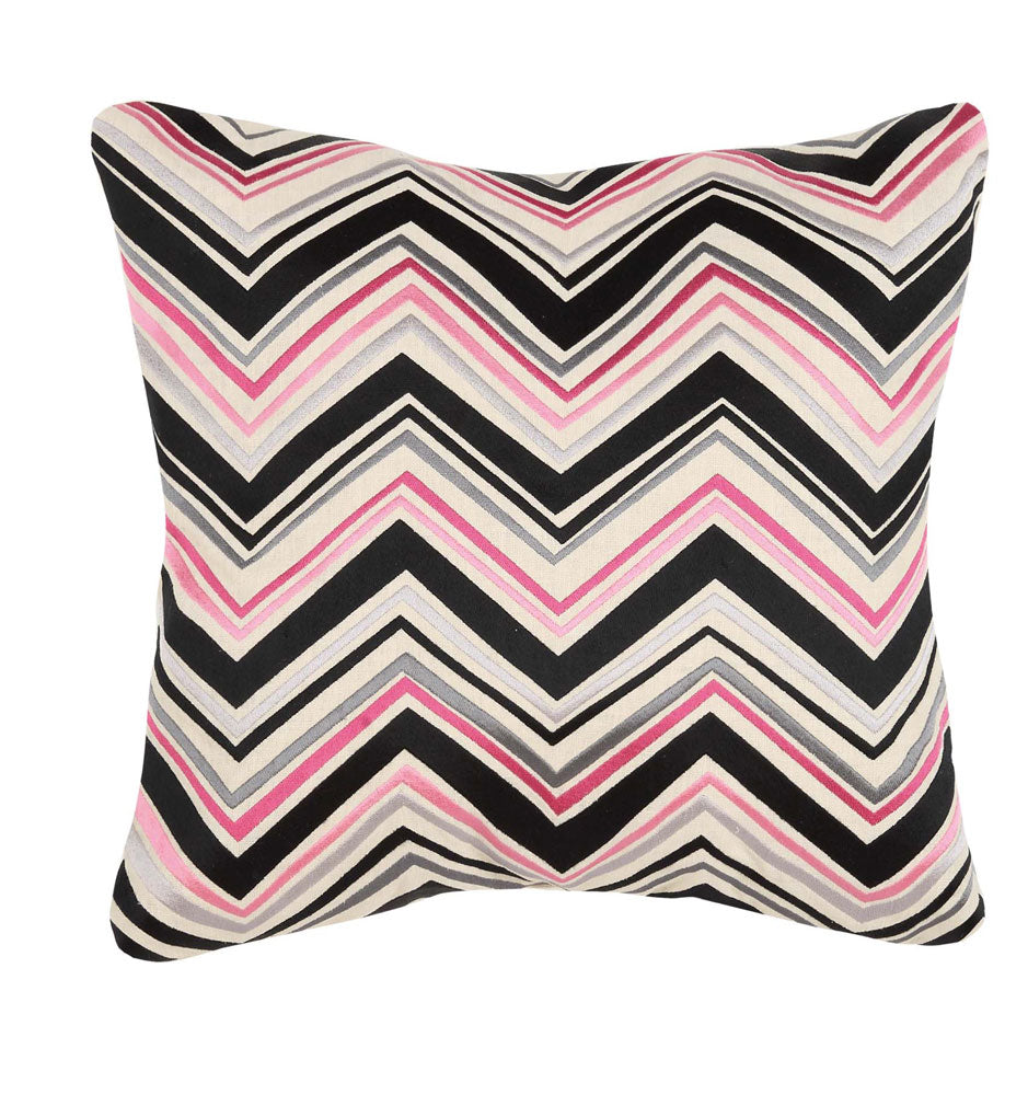 Lightning Embroidered Pillow - Pink
