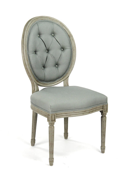 Medallion Tufted Back Side Chair