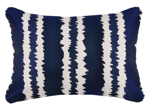 Santorini Embroidered Pillow - Indigo
