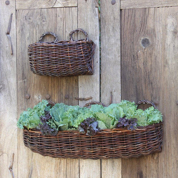 Willow Rectangle Wall Basket - Sm - Natural