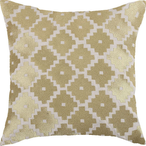 Taos Gold Embroidered Pillow