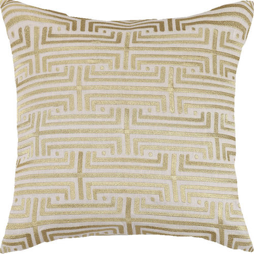 Labyrinth Gold Embroidered Pillow