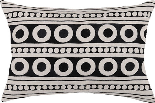 Athens Graphite Embroidered Pillow