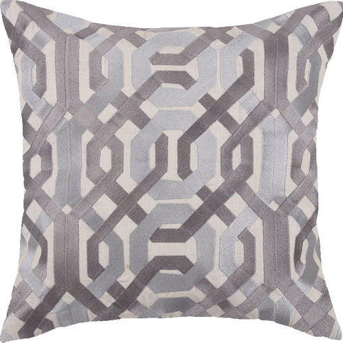 Galway Grey Embroidered Pillow