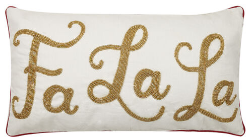 Gold Fa La La Pillow