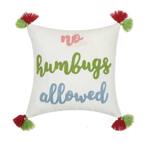 No Humbugs Allowed Pillow