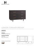 London 3 Drawer Dresser