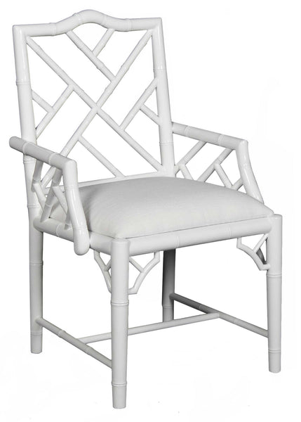 Britton Arm Chair - White Laquer