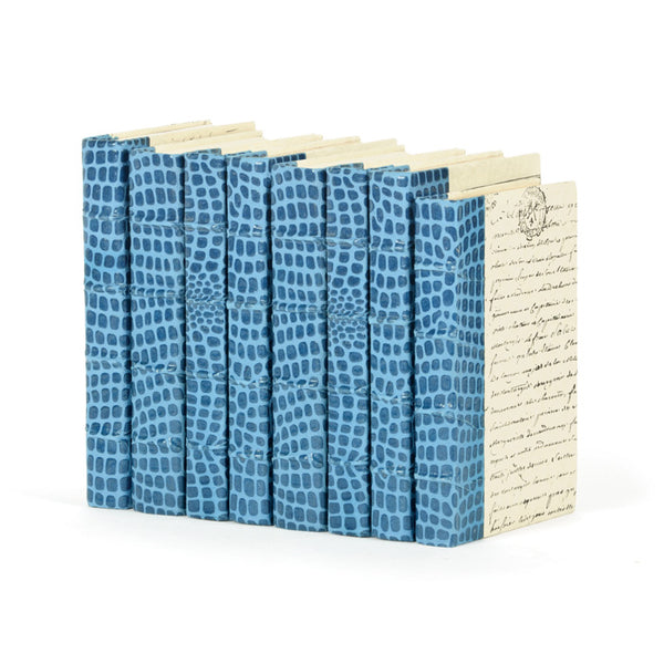Linear Foot of Croc Faux Blue Books