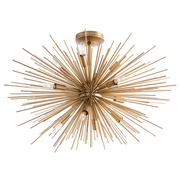 Zanadoo Fixed Chandelier - Brass