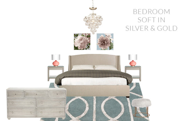 Bedroom - Soft in Silver & Gold