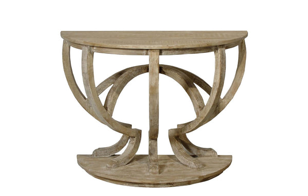 Reclaimed Lumber Demi Lune Console