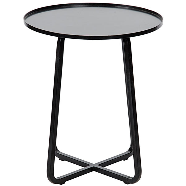 Kimana Side Table, Black Metal