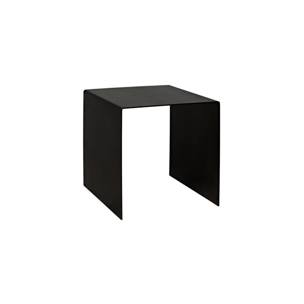 Yves Side Table, Black Metal, Small