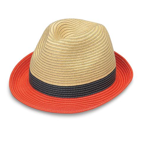 St. Tropez Orange Trilby Hat