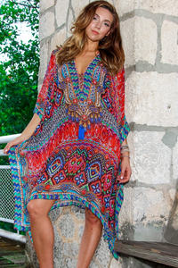 Tribal Ikat Caftan