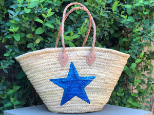 Sequin Blue Star Bag