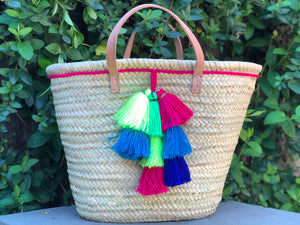 Tassel Pink Trim Bag