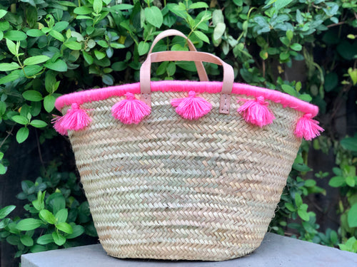 Fringed Pink Tassel Bag