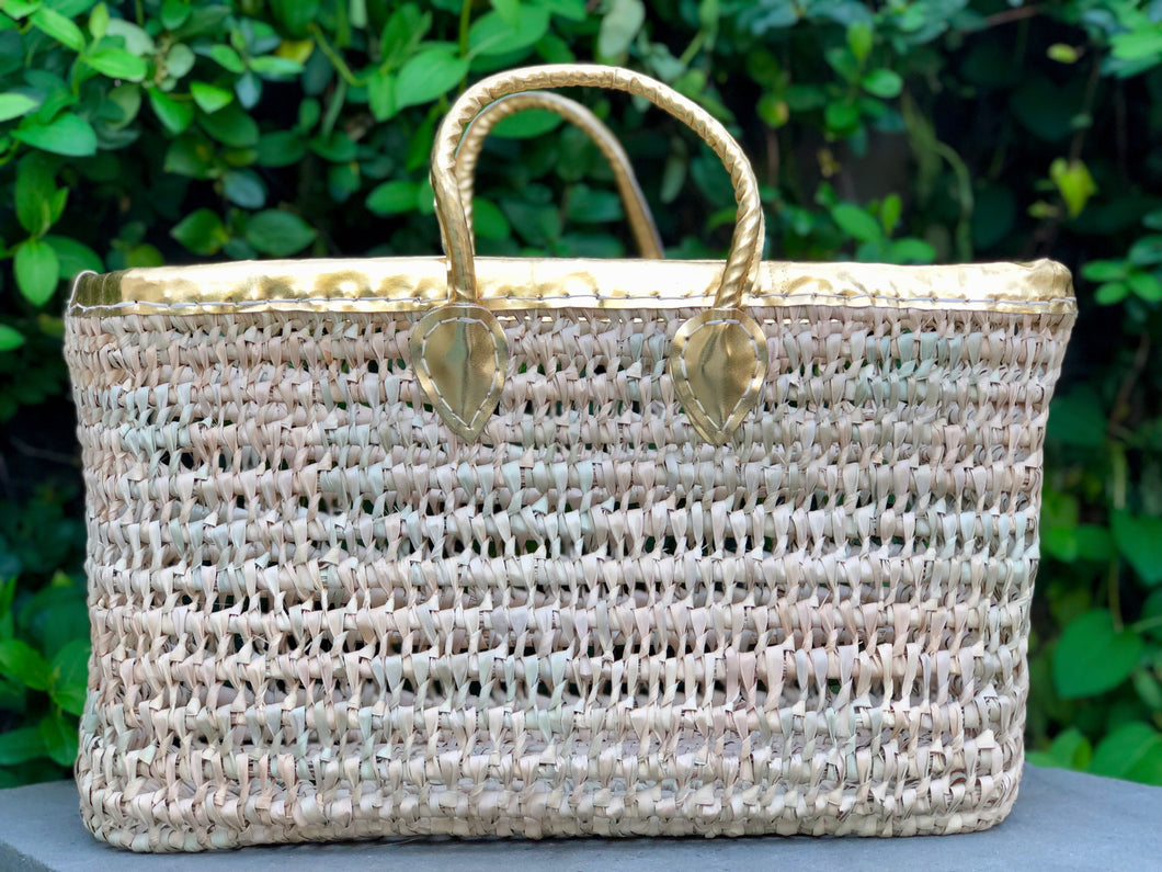 Gold Handled Basket