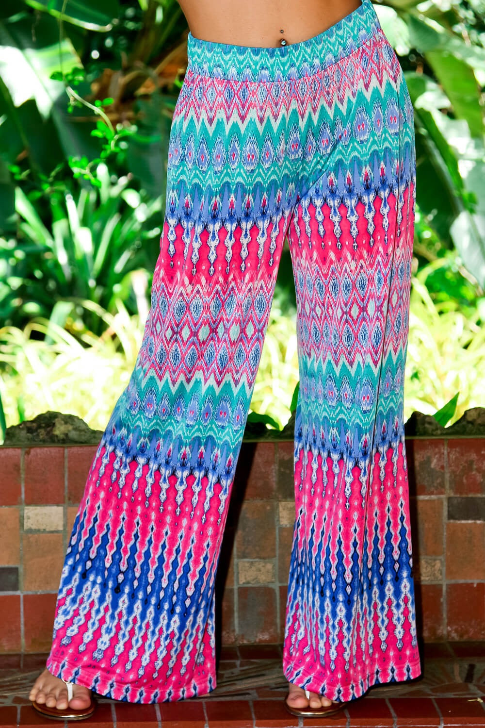 Ikat Pants Blue