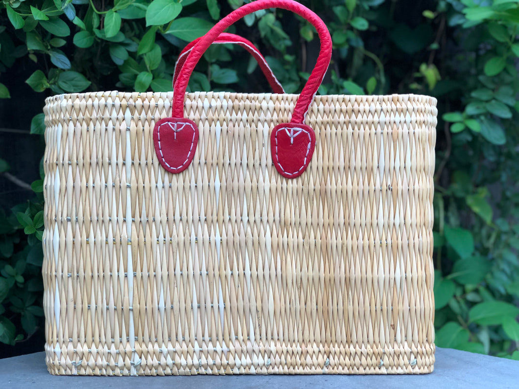 Rectangle Large Basket Red