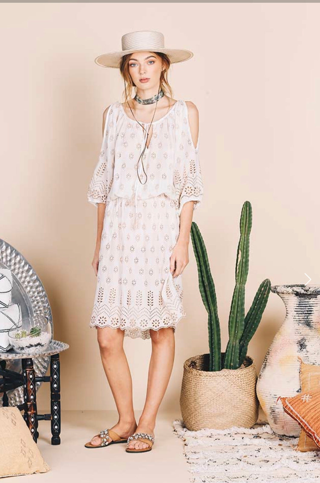 Jewel Dress Cream