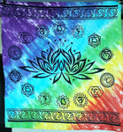 "Chakra Lotus Rainbow Altar Cloth ~ 36""x36"" Cotton"