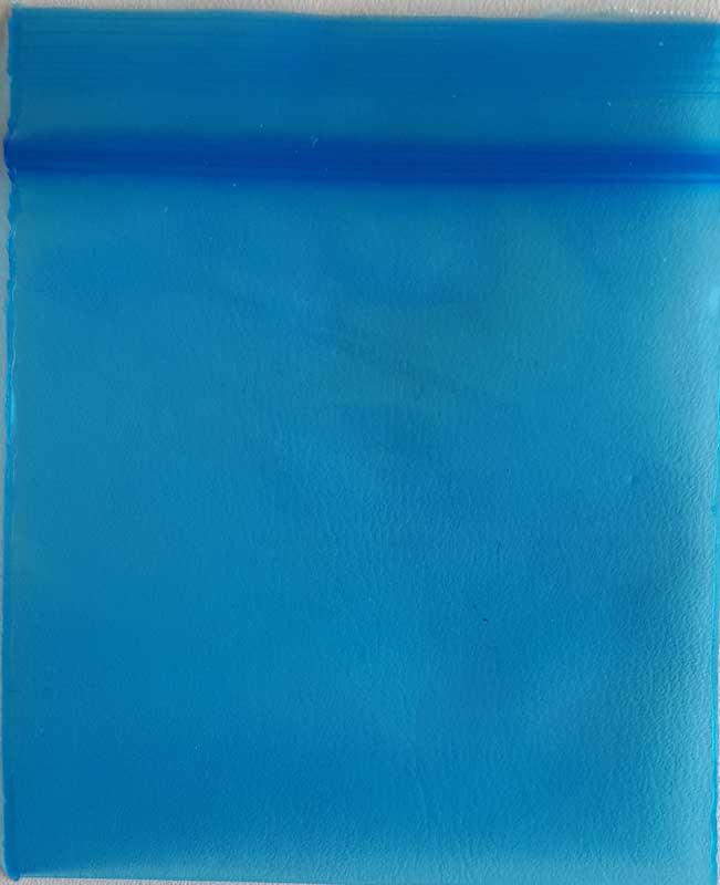 "100 Blue ReSealable Plastic Storage Bags ~ 2"" x 2"""