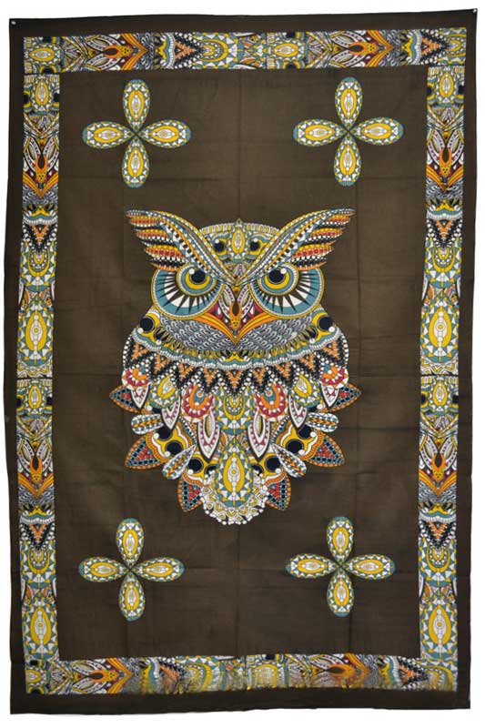 "Wisdom of the Owl Tapestry  ~ 54"" x 86"""