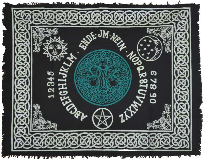 "Celtic Tree of Life Ouija Board Altar Cloth ~ 24"" x 30"""