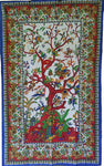 "In the Garden of the Tree of Life Tapestry  ~ 54"" x 86"""