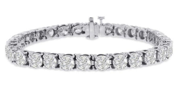 Diamond Tennis Bracelet (19.64 ct Diamonds) in White Gold