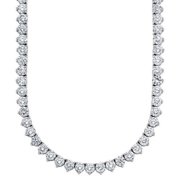 Tennis Necklace (28.31 ct Diamonds) in Platinum
